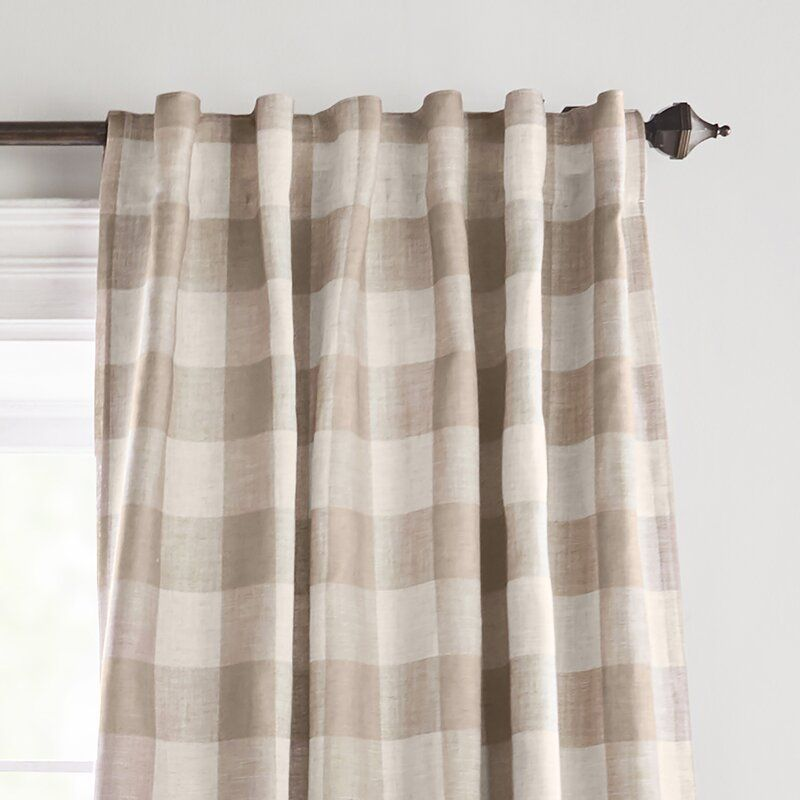 Conor Plaid Blackout Thermal Single Curtain Panel Elrene Home