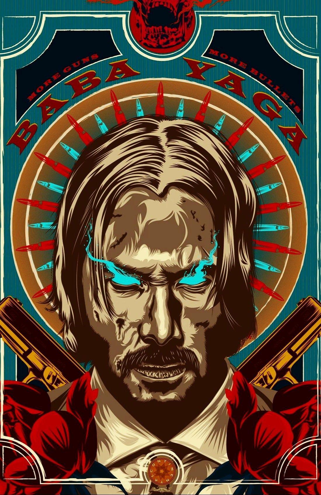 Keanu Reeves Aka John Wick 3 Parabellum Pop Art Posters