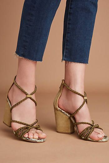 a0d30bc9edd Elysess Rope Lace-Up Heeled Sandals