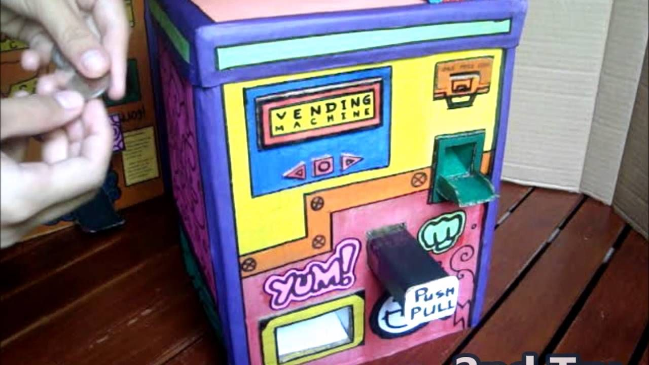 Cardboard Vending Machine 100 PERFECTLY Made! YouTube