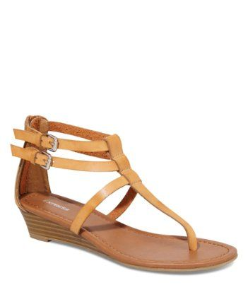 3a437a47b61be DOUBLE T-STRAP WEDGE SANDAL