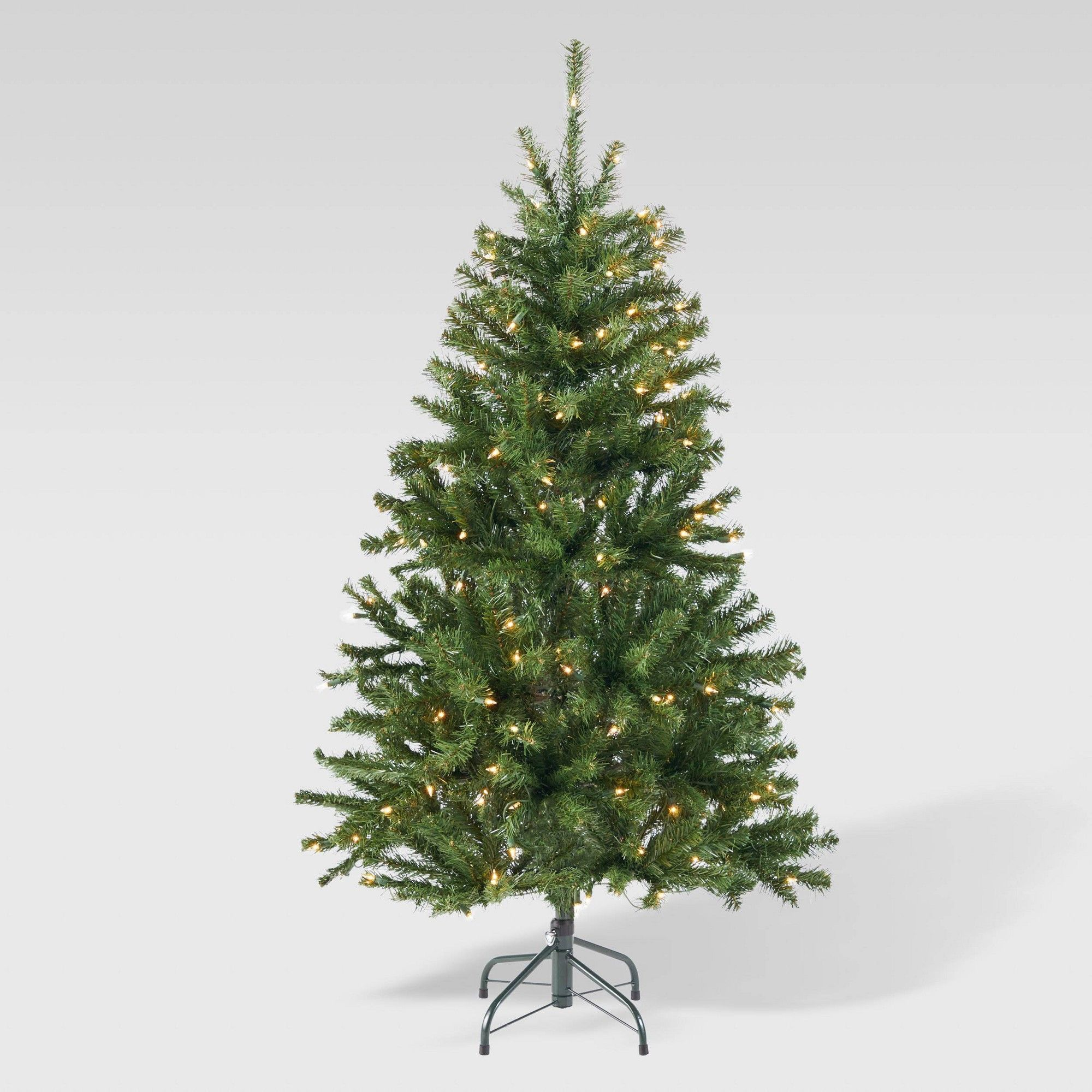 4 5ft Noble Fir Hinged Artificial Christmas Tree Clear Lights Christopher Knight Home Christmas Tree Clear Lights Artificial Christmas Tree Types Of Christmas Trees