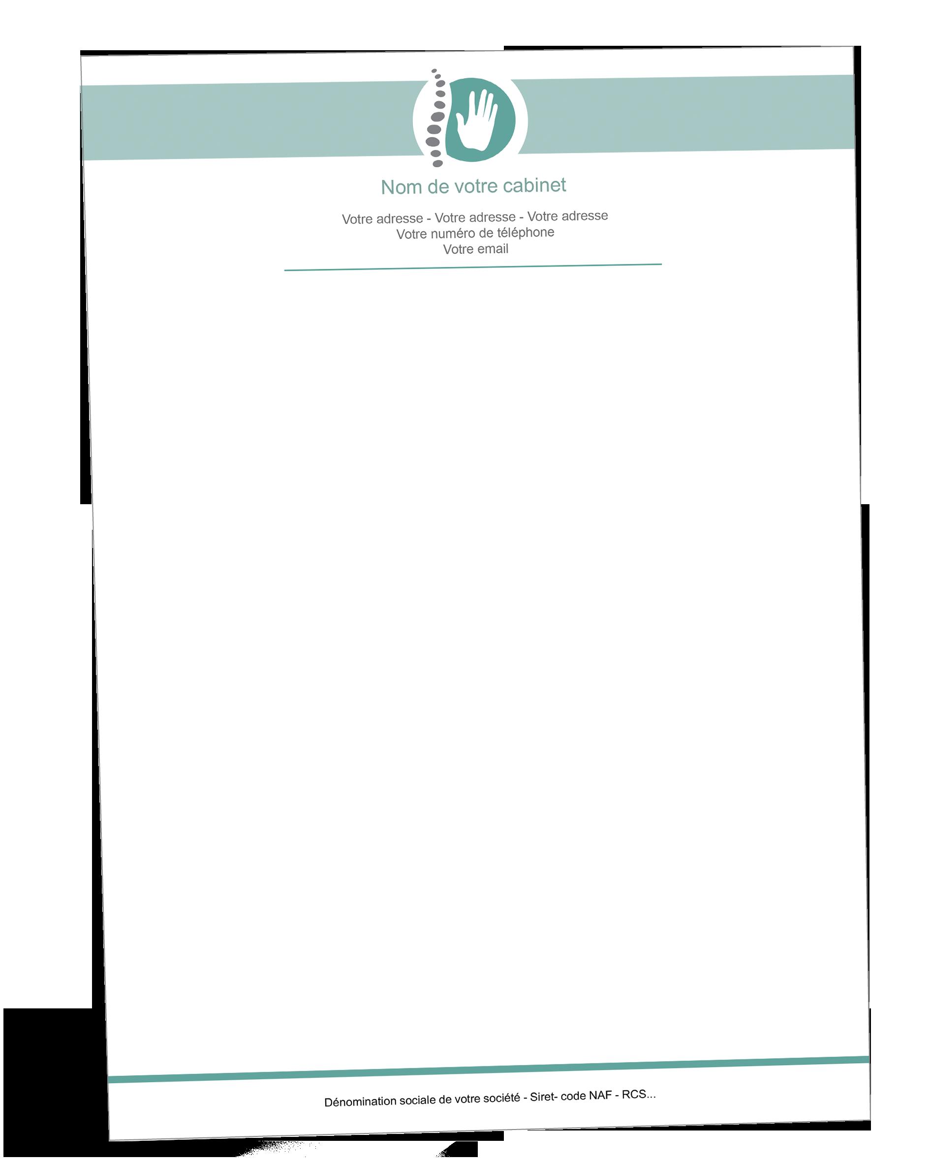 Papier A En Tete Osteopathe Pie Chart Chart
