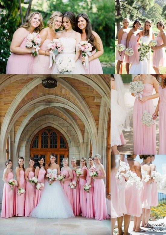 robe de demoiselles d 39 honneur rose poudr bridesmaid dresses wedding pinterest rose poudre. Black Bedroom Furniture Sets. Home Design Ideas