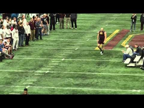 Kevin Henry Central Michigan Offensive Lineman Nfl Draft 2015 Pro Day Nfl Draft Central Michigan Lineman