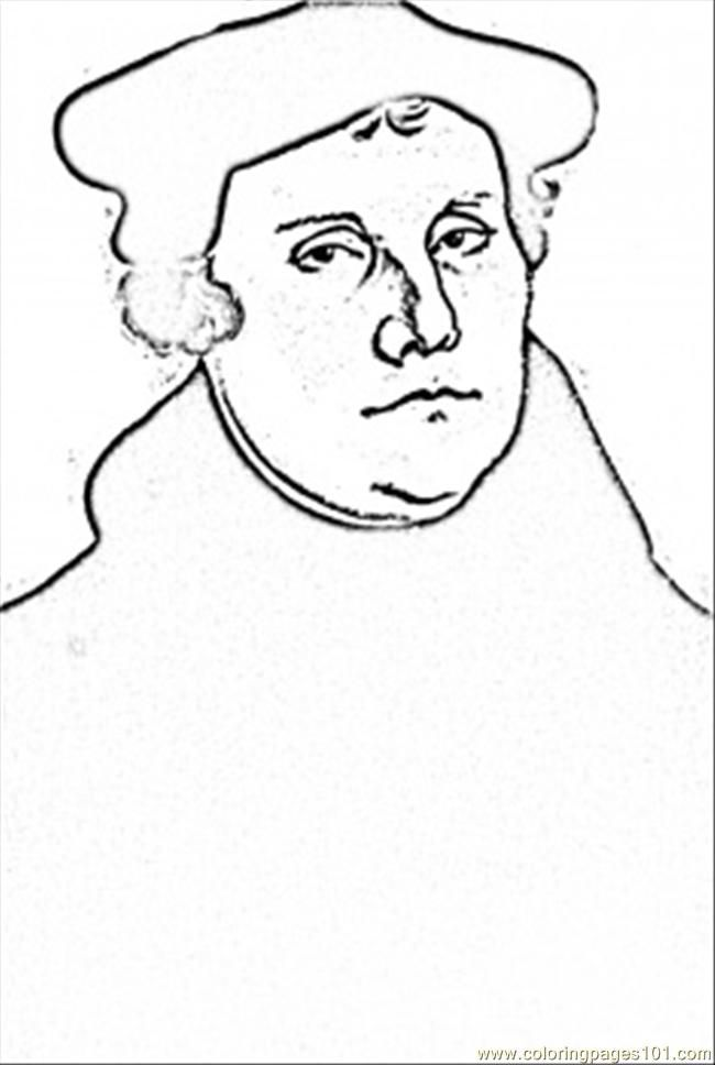 Germany Martin Luther Coloring Page Coloring Pages Martin
