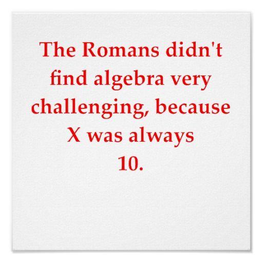 Funny Math Joke Poster Zazzle Com Funny Math Jokes Math Jokes Math Humor