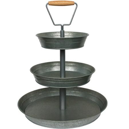 Better Homes and Gardens 3Tier Galvanized Metal Stand