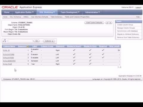 Oracle APEX Tutorial (10 of 20) - Improve forms and reports