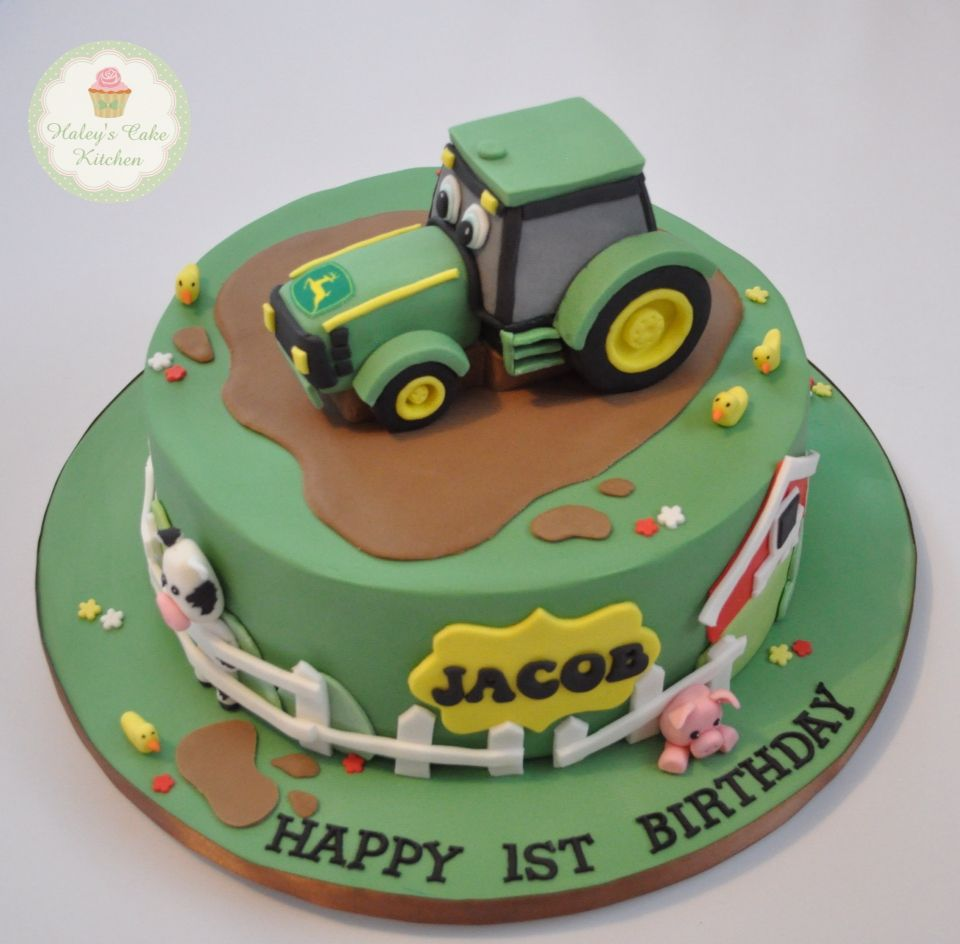john deere tractor cake all for kids cakes and cupcakes pinterest geburtstagskuchen. Black Bedroom Furniture Sets. Home Design Ideas