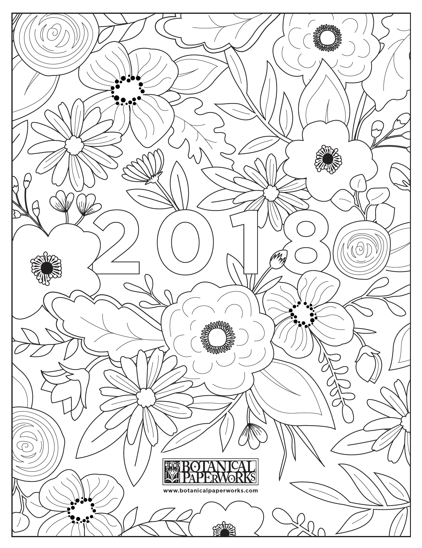 free printables} Adult Coloring Book Calendar | Bullet journals ...