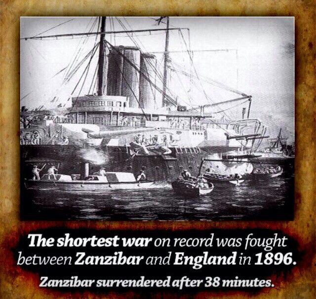 Shortest war in history lasted for only 38 minutes