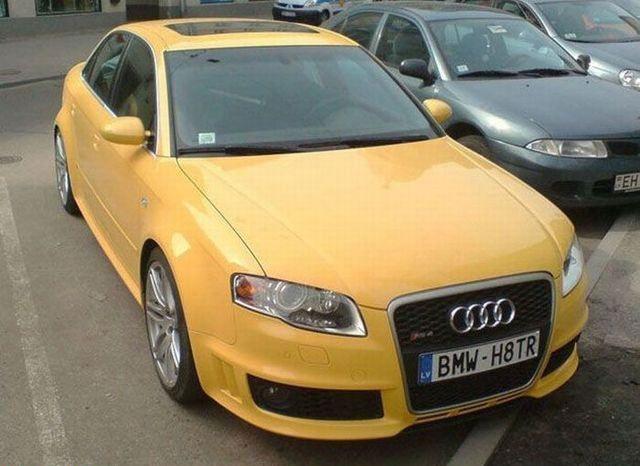 Funny Vehicle Registration Plate Of Audi Registration Plates - Audi car number