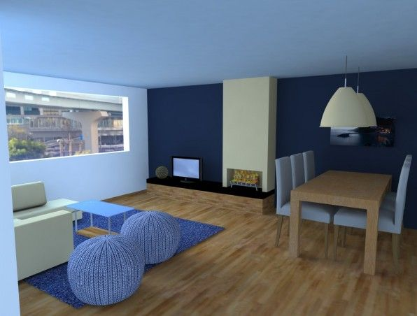 Moderne woonkamer uitgewerkt in 3D #woonkamer #3d #sketchup ...
