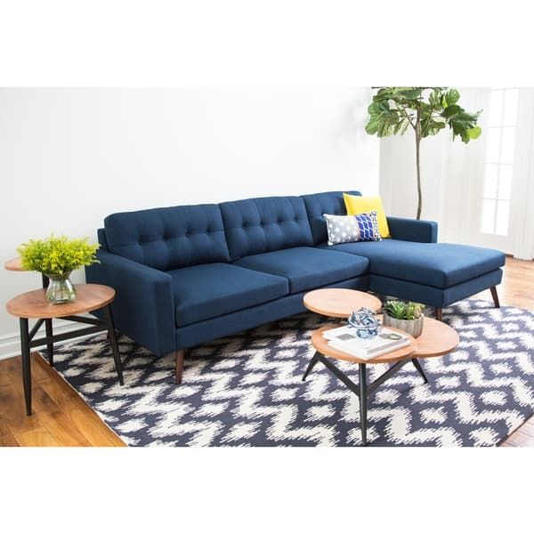 Stupendous Abbyson Donovan Mid Century Reversible Fabric Sectional Sofa Pdpeps Interior Chair Design Pdpepsorg