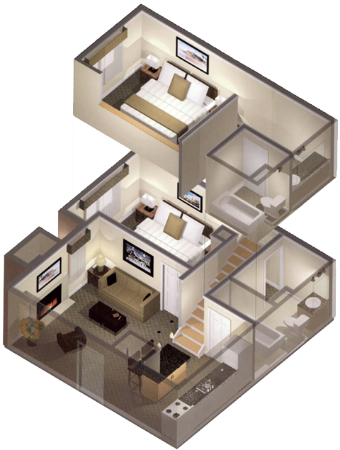 2 bedroom loft apartments | design ideas 2017-2018 | Pinterest ...