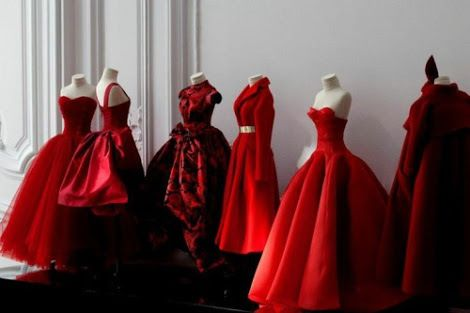 dress, red, and fashion resmi