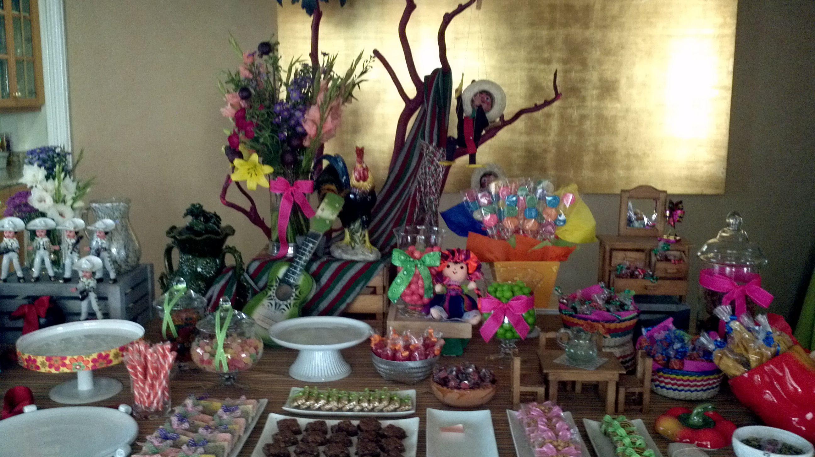 mesa dulces fiesta mexicana florería zen