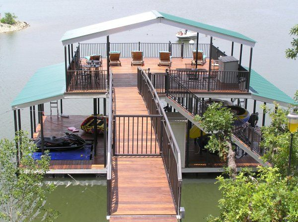 This Cool Boat Dock Has A Large Tanning Sun Deck On Top Lakes - Awesome floating house shore vista boat dock by bercy chen studio