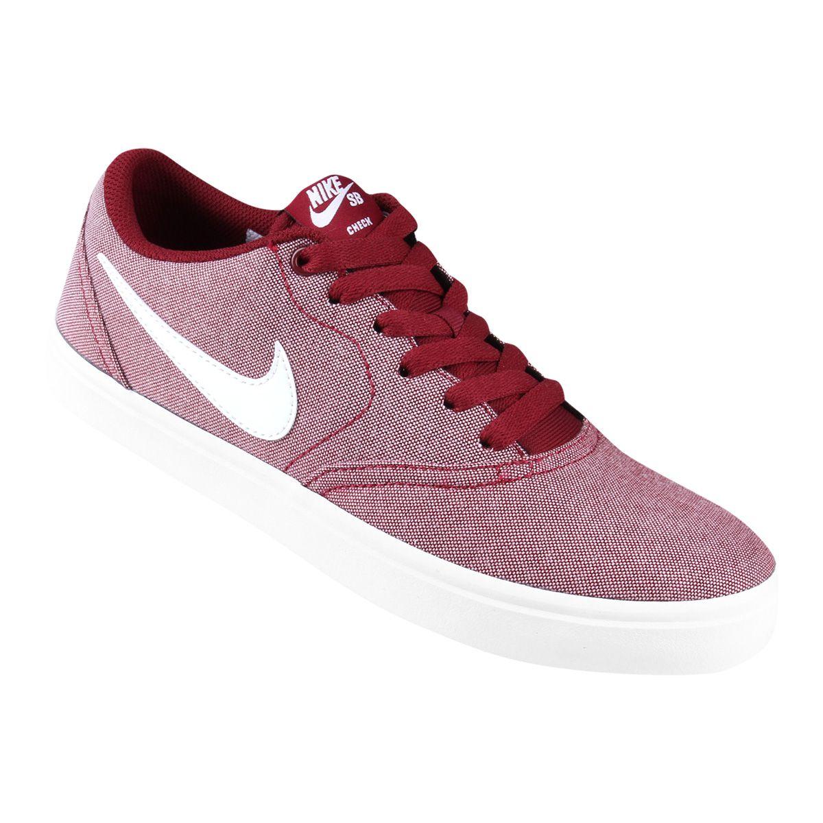4c533a838ce Tênis Nike Wmns Sb Check Solar Cvs P Feminino - Vermelho