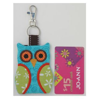 In The Hoop Key Rings Key Fobs Owl Key Chain Card Holder