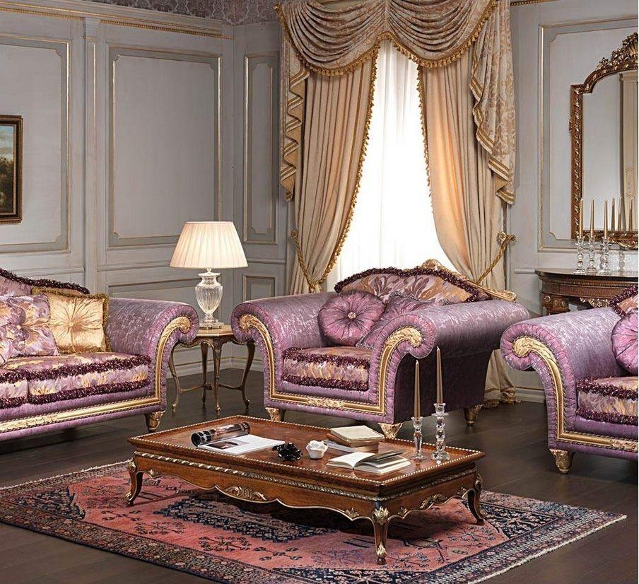 Tresillo Estilo Rococó Con Madera Vista En Dorado Muebles De Lujo Muebles Clásicos Diseño De Muebles