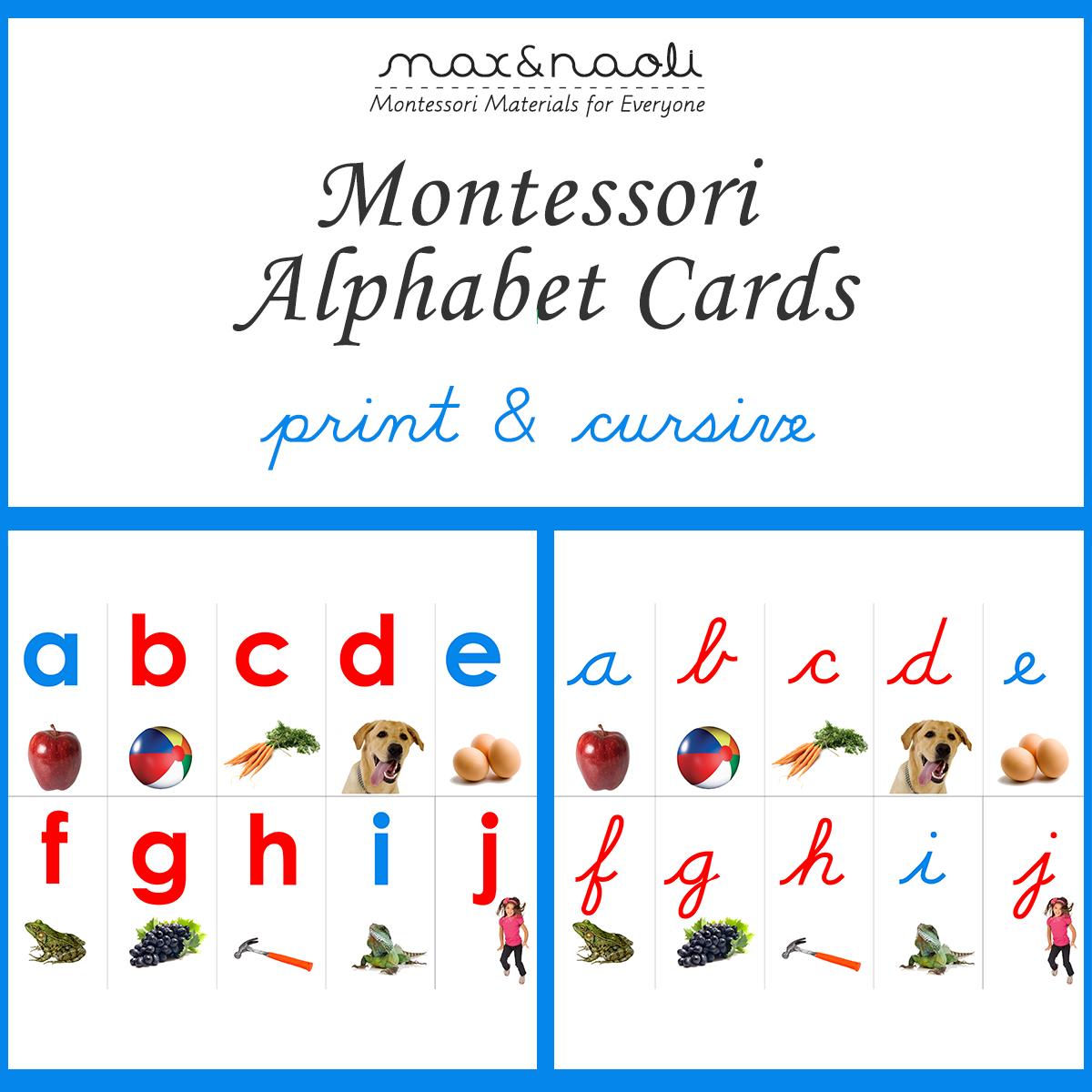 Montessori Alphabet Printables