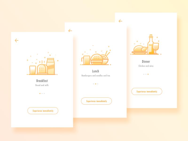 A Healthy Diet App2 Design Interactive Design Mobile App Design