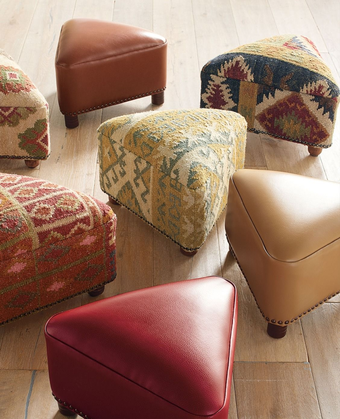 Give Any Room New Shape With Our Kilim Triangle Footstool
