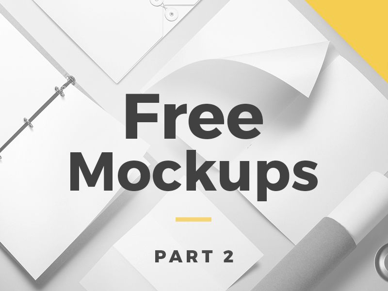 Free Mockups Collection Part 2 Mockup Template Free Design Mockup Free Free Mockup