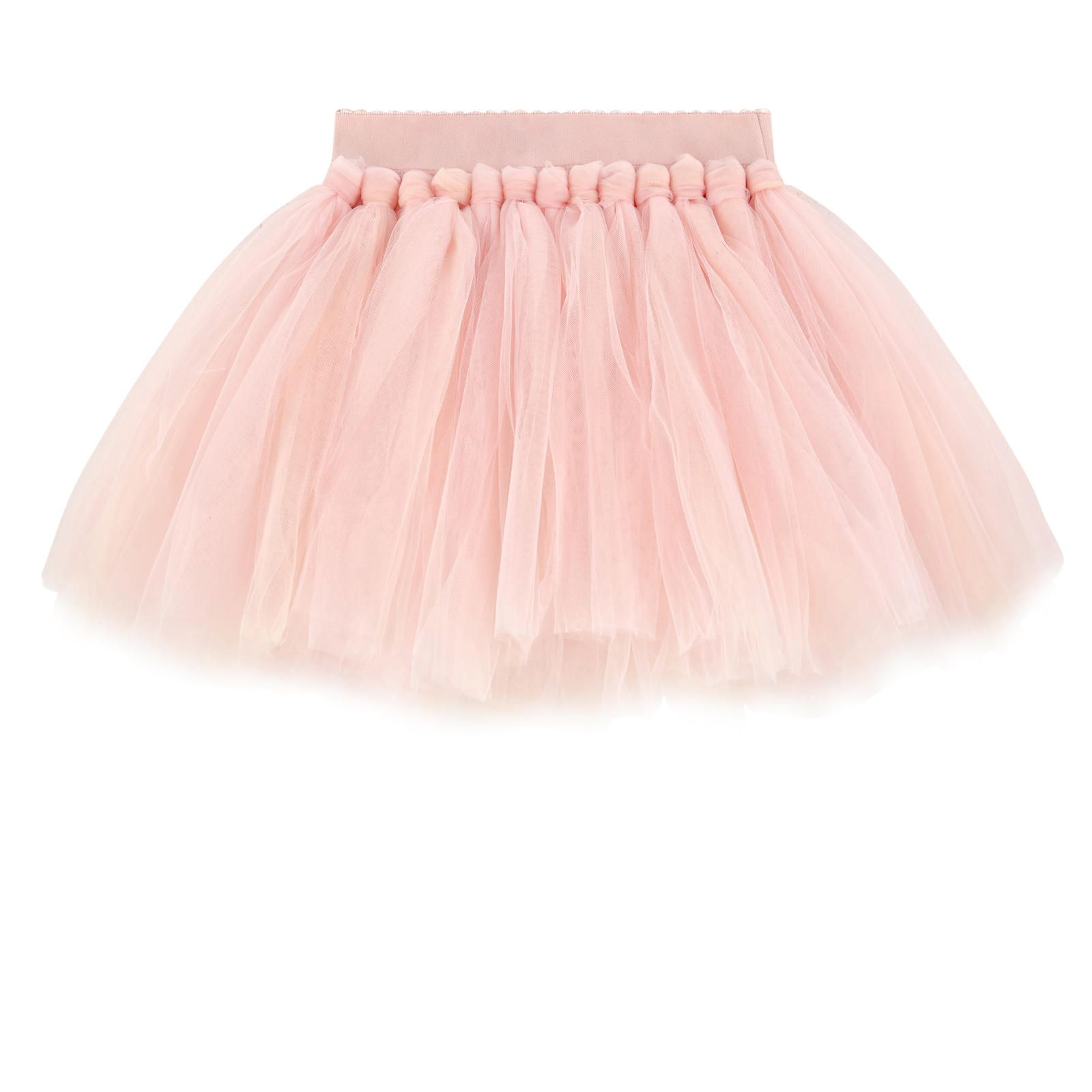 3d11e3550 Synthetic tulle Knit lining Loose fit Layered tulle patches Elastic ...