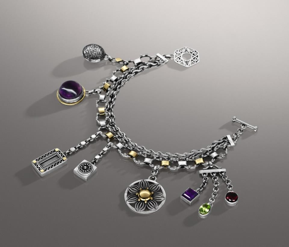 Itus all about charms double chain charm bracelet azza fahmy