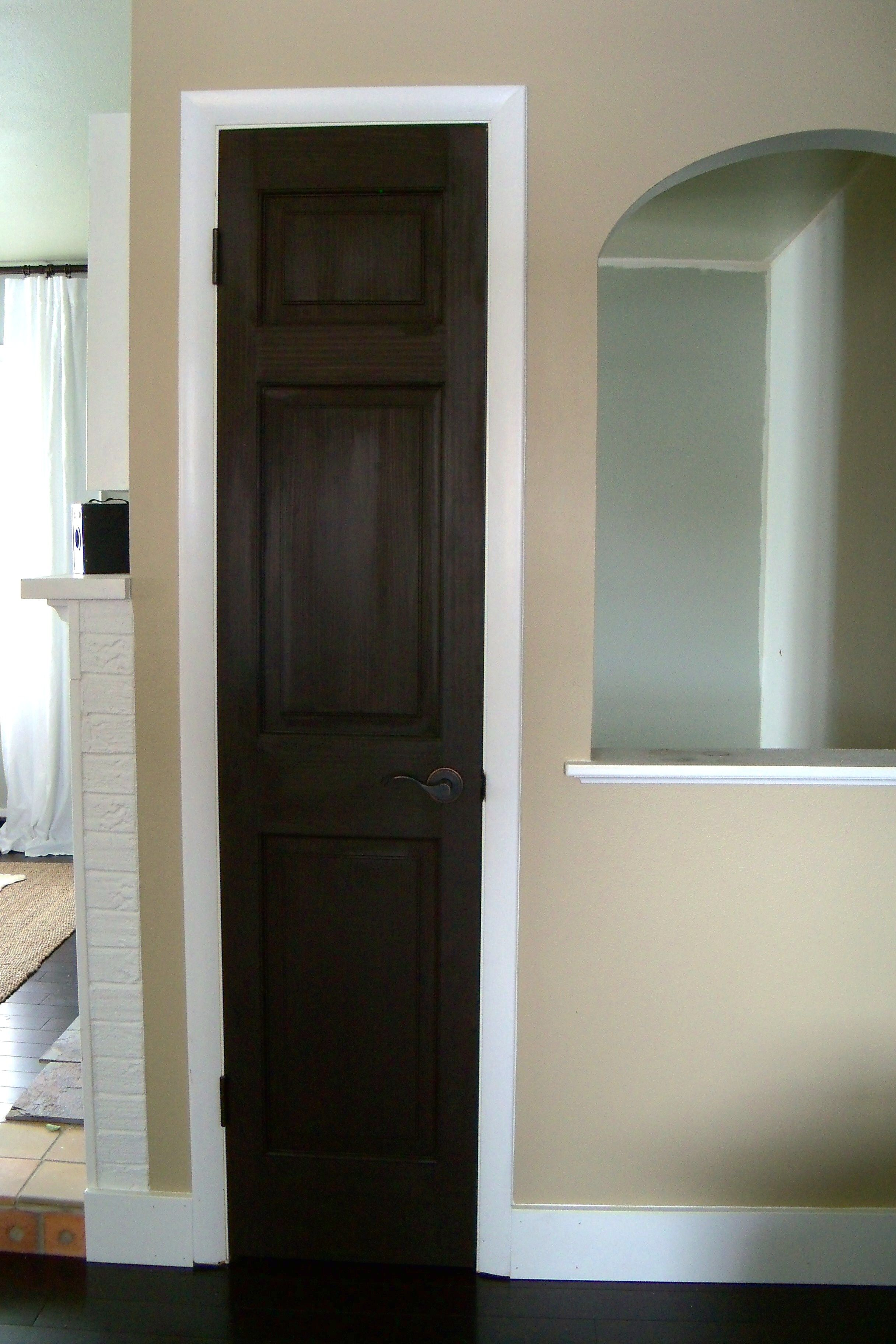 Hallway trim ideas  Stain It Black Interior Doors  Pinterest  Oil rubbed bronze