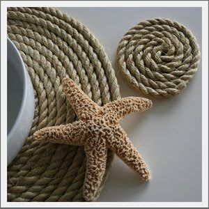 Nautical Rope Placemats Coasters Natural And Nautical These Rope Place Mats Are A Fun Natural Table Settin Beach House Decor Beach Decor Nautical Accents
