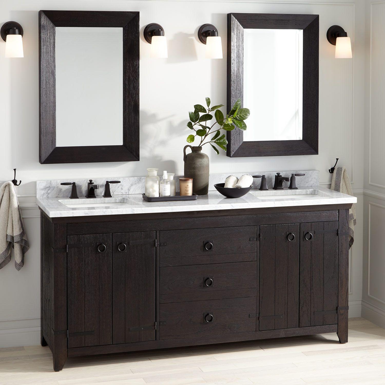 72 Kane Double Vanity For Rectangular Undermount Sink Rustic