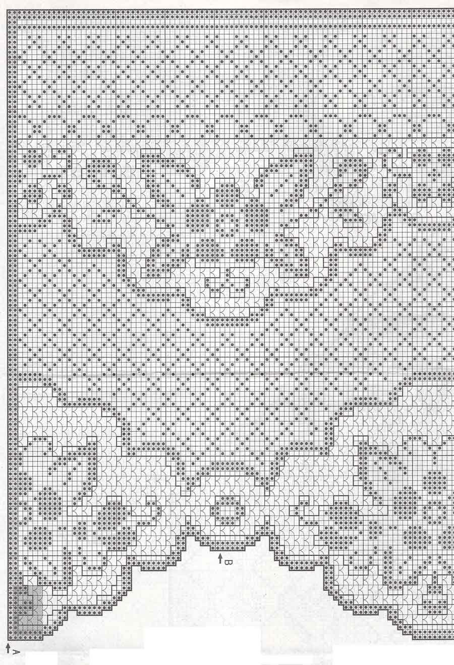 Schemi gratis da realizzare a filet punto croce maglia for Schemi uncinetto bordi
