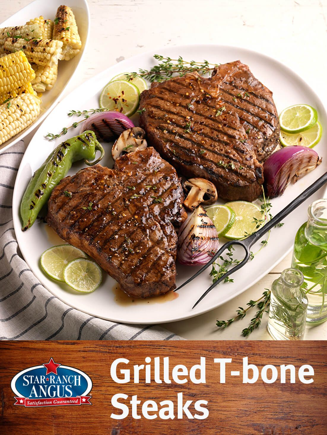 Grilled T Bone Steaks Star Ranch Angus Beef Recipe Grilled T Bone Steak Steak T Bone Steak