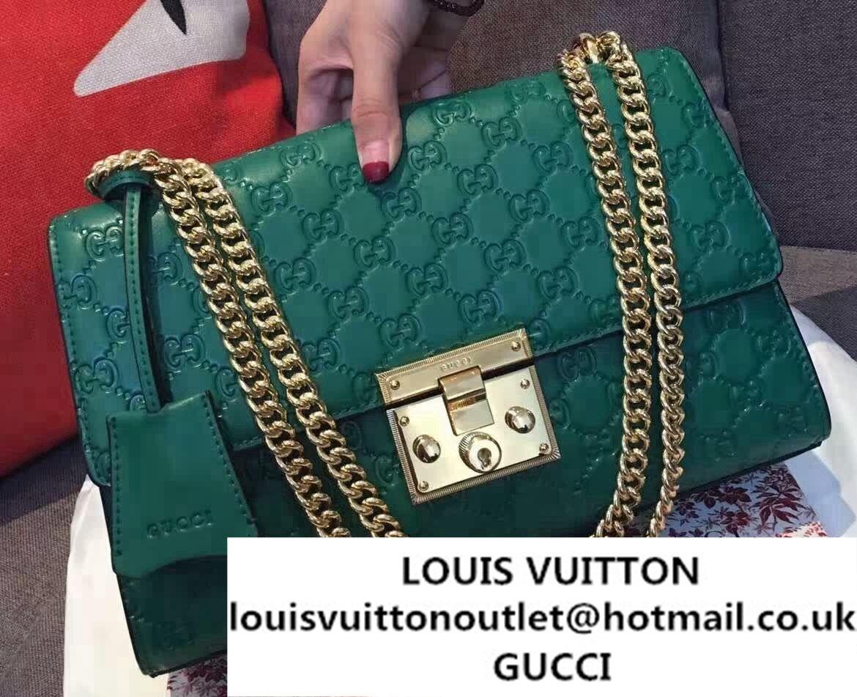 05c916eaafbc Gucci Padlock Gucci Signature Leather Shoulder Medium Bag 409486 ...