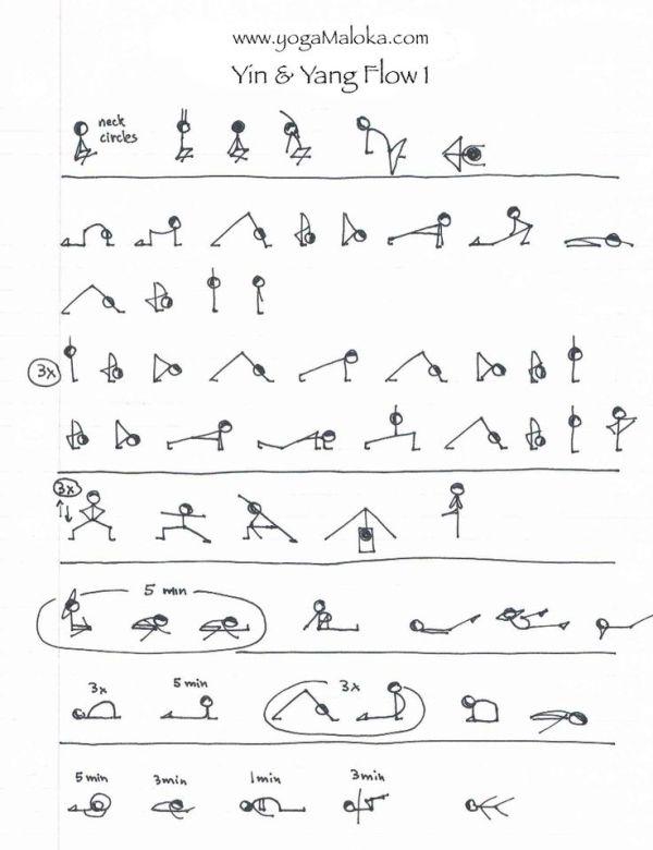 Yin & Yang yoga sequence   Yoga   Pinterest   Yin yoga ...