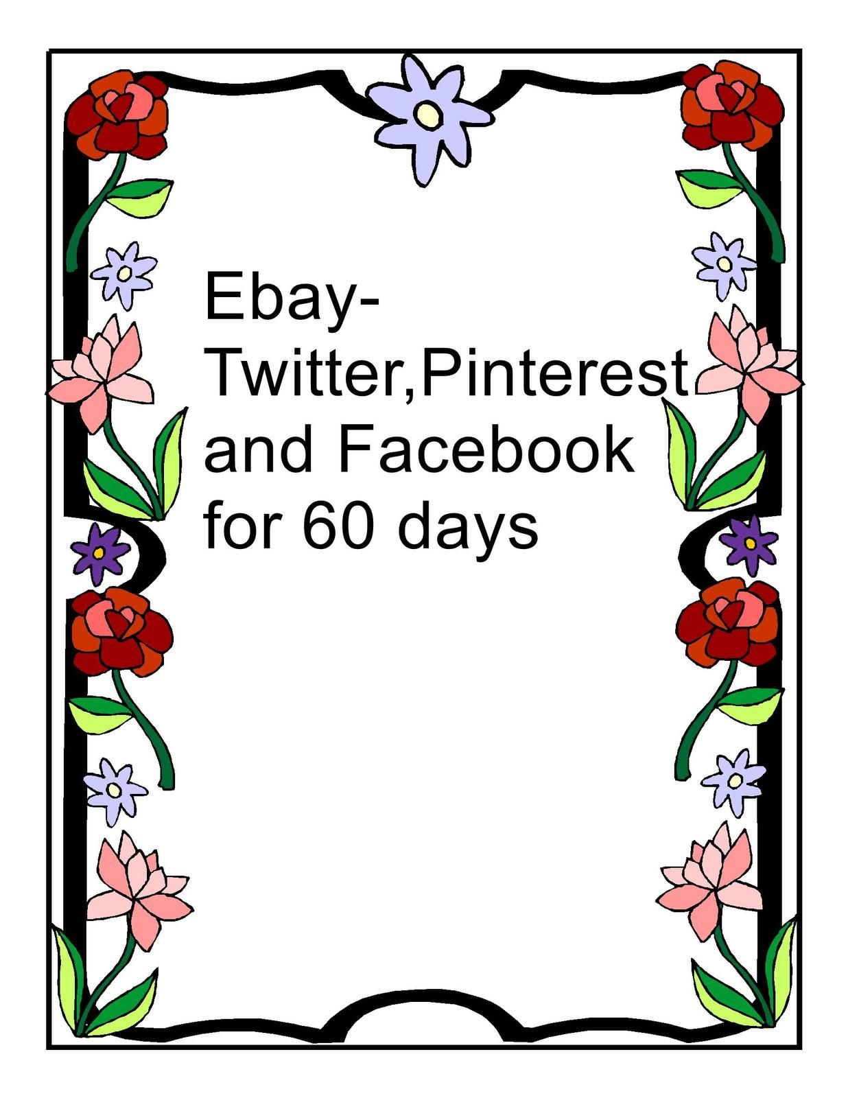 Ebay-Twitter,Pinterest and Facebook for 60 days #socialnetworking #promotions