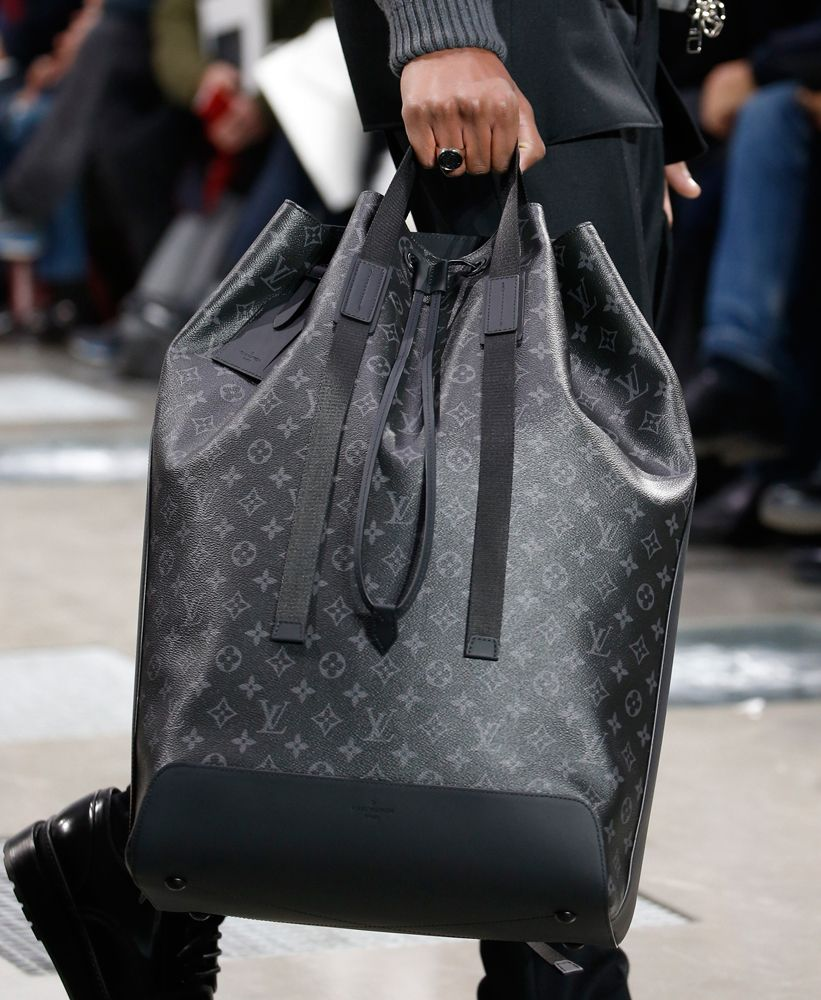 Louis Vuitton Debuts New Monogram Eclipse Print at Men's Fall 2016 ...