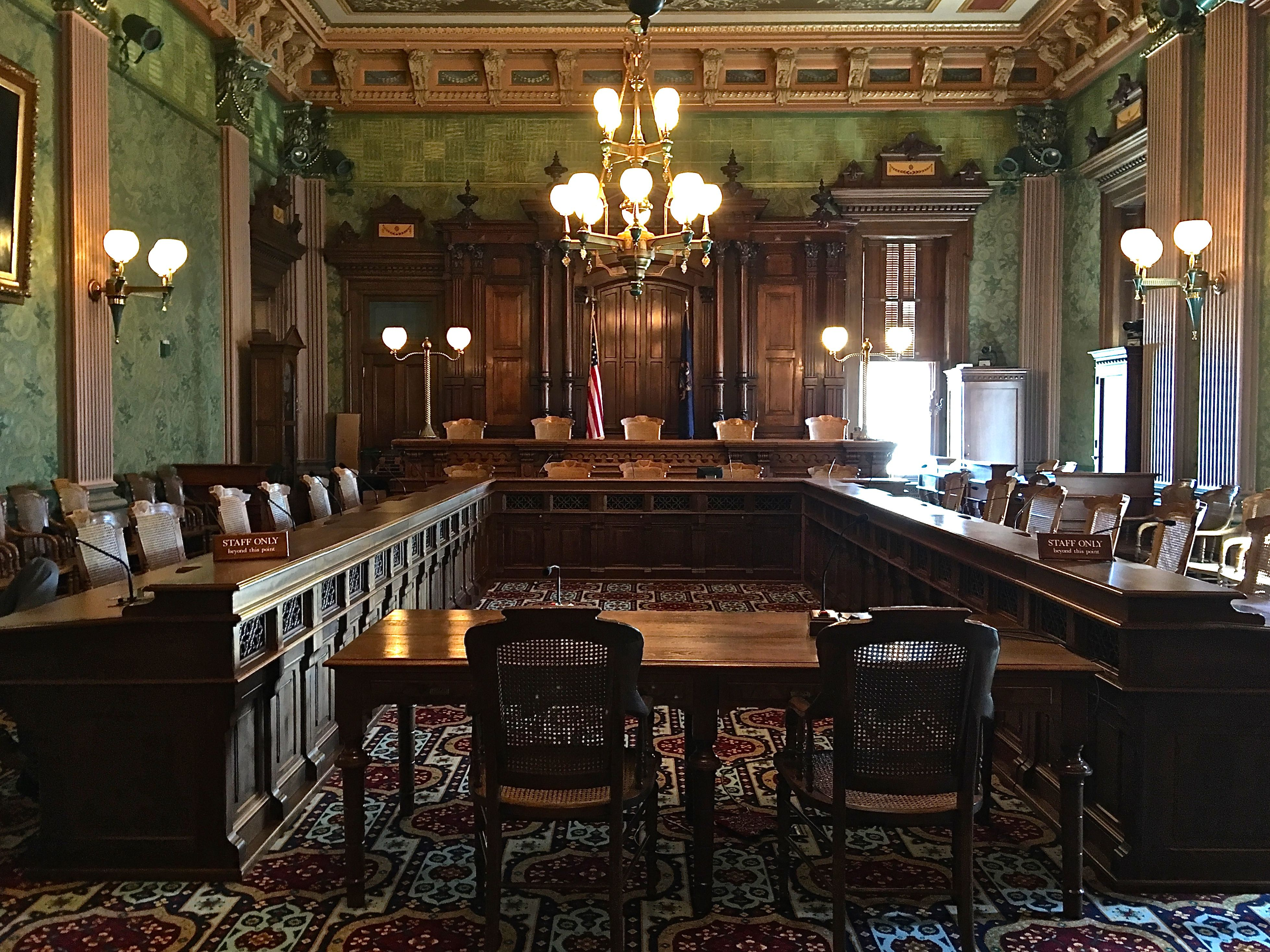 This is Michigan\'s old Supreme Court chamber. Former Justice John D ...