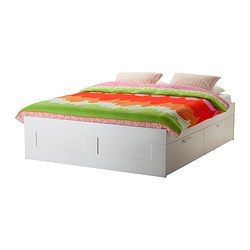 Brimnes Bed Frame With Storage White Queen Ikea In 2020 Bed Frame With Storage Brimnes Bed White Queen Bed Frame