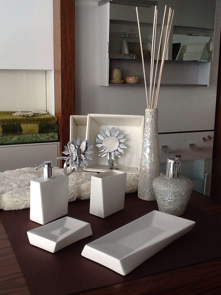 Accessori appoggio in ceramica bianca opaca \