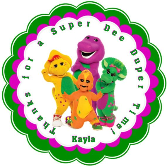 Barney and friends personalized stickers party favors birthday barney and friends personalized stickers party favors birthday stickers gift tag reference negle Gallery