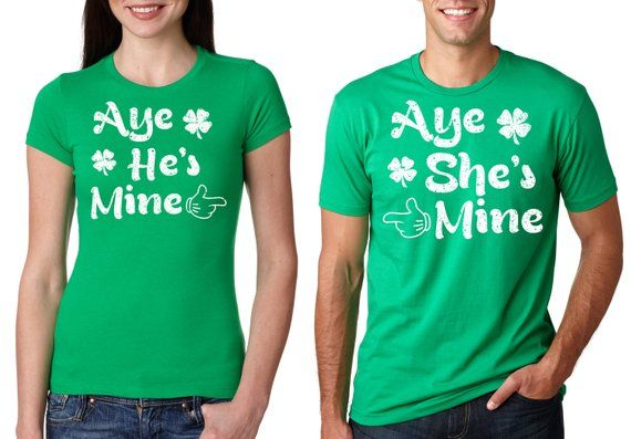 fbe3baef070673 St Patrick s Day Couple T-shirt St Patricks Day Matching Tee Shirt Clover  Tees Shenanigans Photo Sho