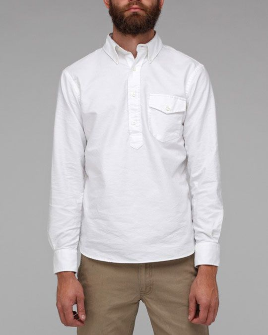 The New England Shirt Co. Pullover Oxford | White shirts