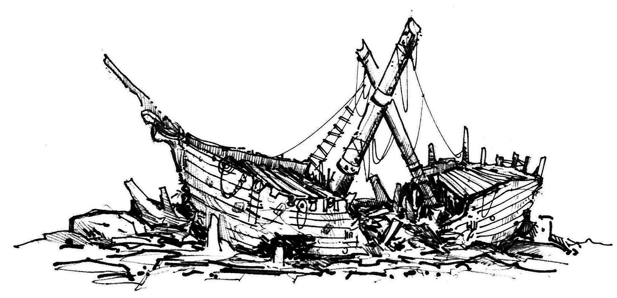 Image Result For Shipwreck Drawing