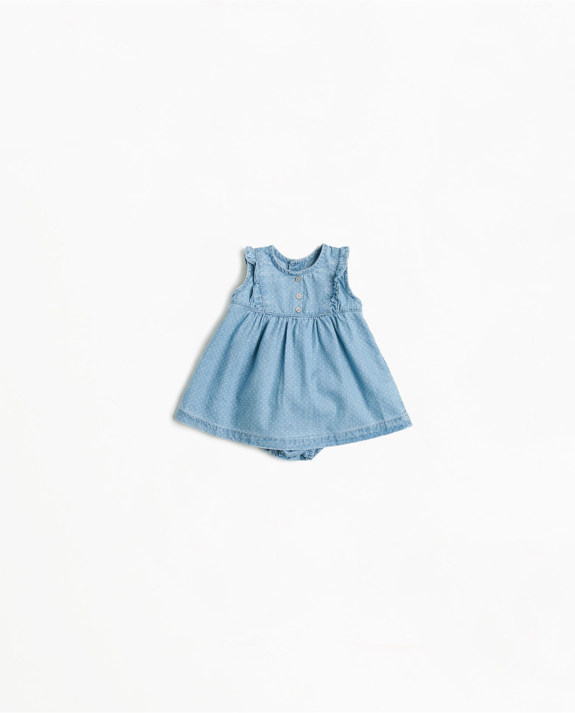 ZARA - MINI - Robe chasuble en denim