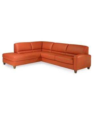 orange leather sofa! | Sectional sofa, Sectional sleeper ...